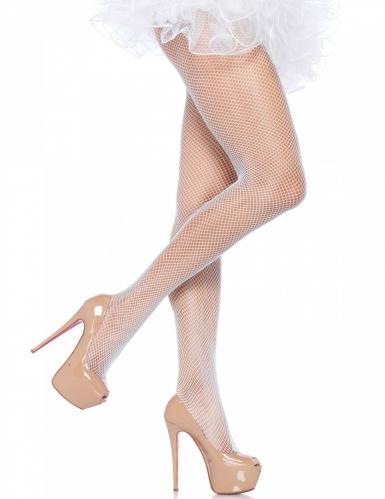 Netzstrumpfhose Damen Pastellweiß