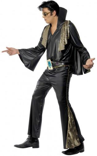 Elvis Presley™- Kostüm für Herren Lizenz schwarz-gold-2