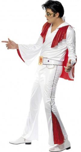 Elvis Presley™- Lizenzkostüm für Herren weiss-rot-2