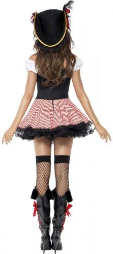 Sexy Piratenbraut-Kostüm schwarz-rot-weiss-1