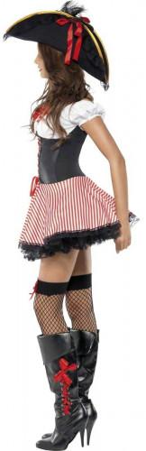 Sexy Piratenbraut-Kostüm schwarz-rot-weiss-2