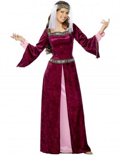 Mittelalterliches Königinnen-Kostüm für Damen bunt