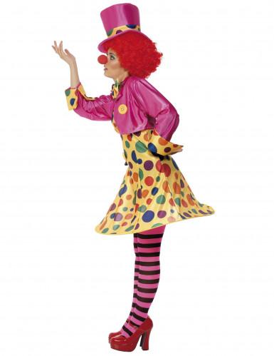 Zirkus-Clown Damenkostüm mit Punkten bunt-1