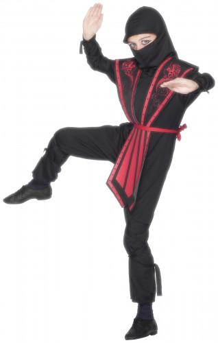 Rotes Ninja-Kostüm für Jungen