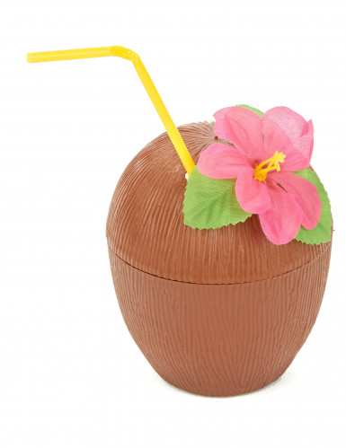 Kokosnuss Trinkbecher Hawaii braun