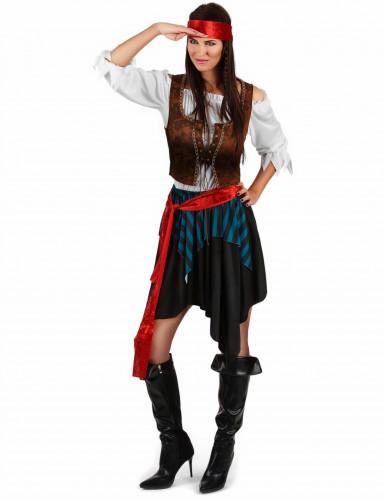Piraten-Kostüm für Damen 5-teilig-1