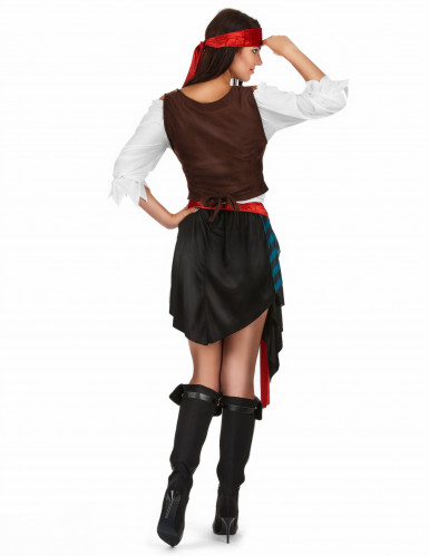 Piraten-Kostüm für Damen 5-teilig-2
