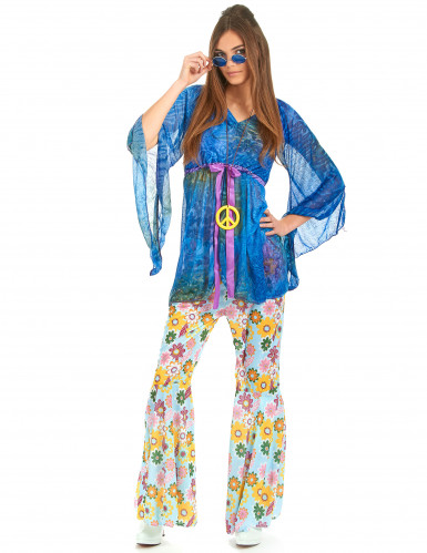 Hippie-Kostüm Flower Power für Damen