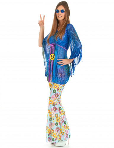 Hippie-Kostüm Flower Power für Damen-1
