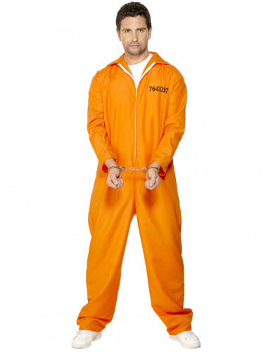 Gefangenen-Kostüm für Herren orange