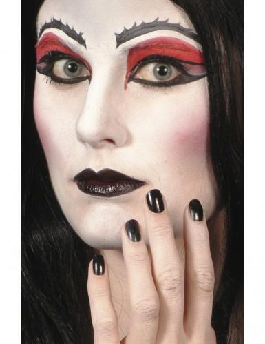 Schwarze Halloweenschminke