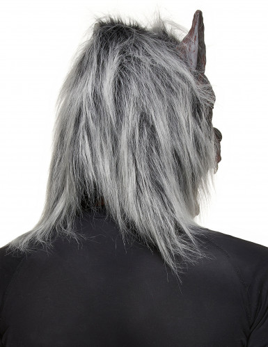 Halloween-Werwolfsmaske für Erwachsene mit Pelz-1