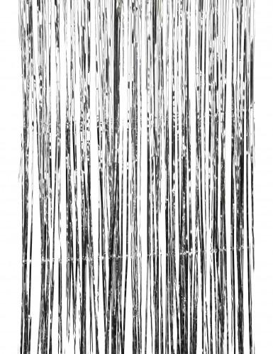Silberner glänzender Lametta-Vorhang-2