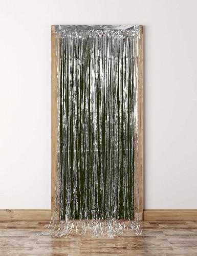 Silberner glänzender Lametta-Vorhang-3