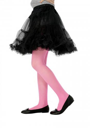 Rosa Halloween-Strumpfhose für Kinder
