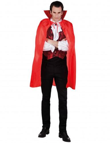 <br />- Vampirumhang Halloweenrot für Herren