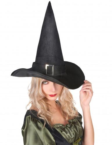 Hexenhut Samt Halloween für Erwachsene