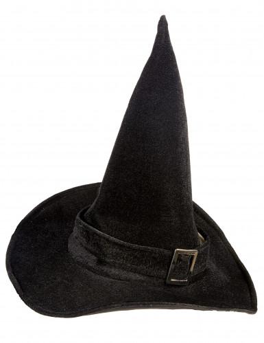 Hexenhut Samt Halloween für Erwachsene-1