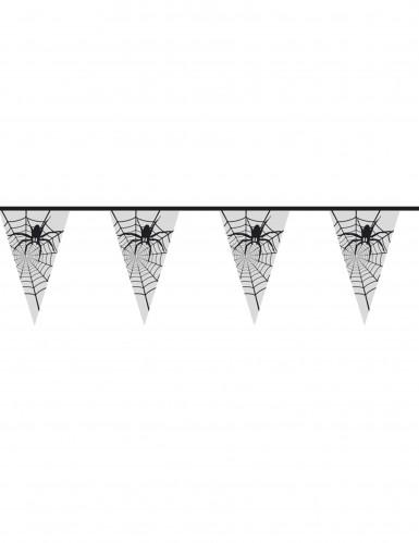 Spinnengirlande transparent Halloween