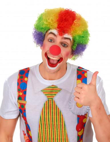 Afro-Perücke Clown bunt für Erwachsene-1