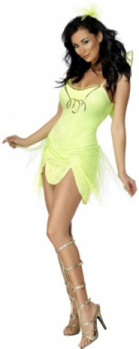 Sexy Feen-Kostüm Grün für Damen