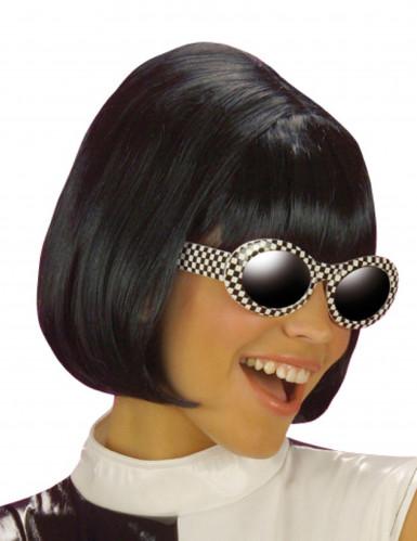 Schwarze Perücke für Damen Carré-Schnitt