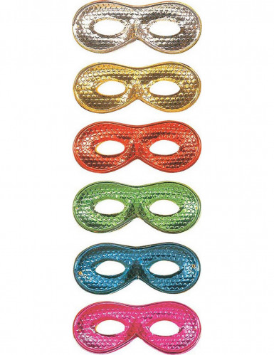 Domino Halbmaske glänzend für Erwachsene