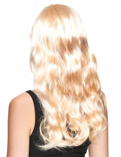 Langhaar-Perücke für Damen wellig mit Pony blond-1