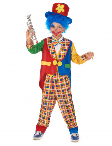 Süßes Clownskostüm für Kinder Zirkus bunt