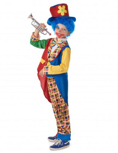Süßes Clownskostüm für Kinder Zirkus bunt-1