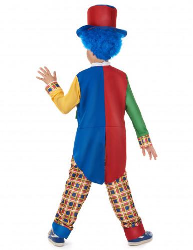 Süßes Clownskostüm für Kinder Zirkus bunt-2