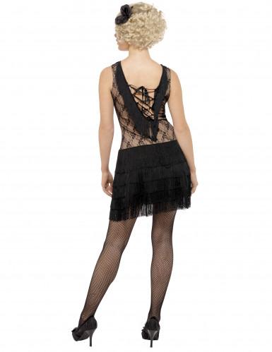 Retro Charleston-Kostüm für Damen schwarz-2