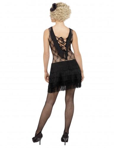 Schwarzes Charleston-Kostüm für Damen-2
