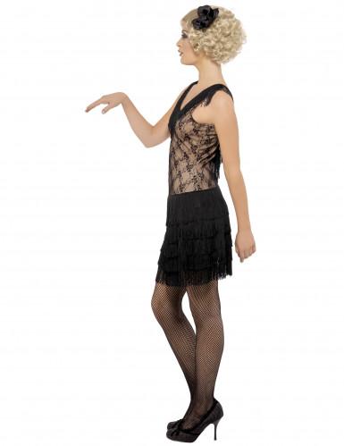 Schwarzes Charleston-Kostüm für Damen-1