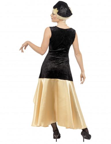 Schwarz-goldenes Charleston-Kostüm für Damen-2