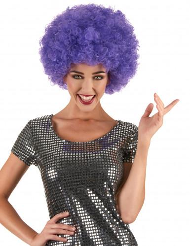 Violette Afro/Disco-Perücke für Erwachsene