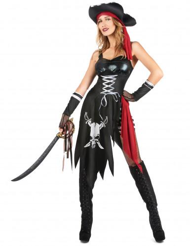 Sexy Piratinnen-Kostüm für Damen