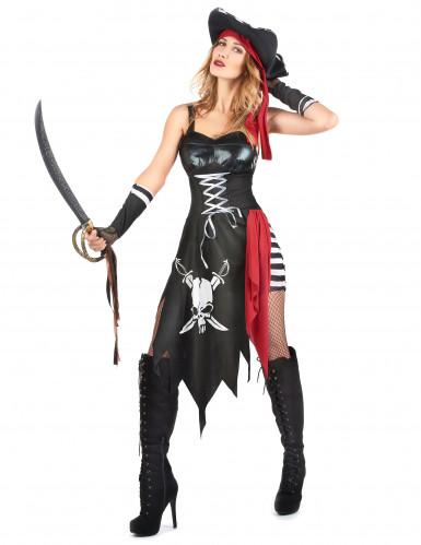 Sexy Piratinnen-Kostüm für Damen-1