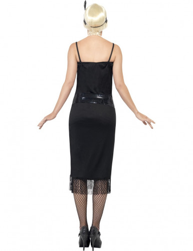 Stilvolles Charleston-Kostüm für Damen schwarz-1