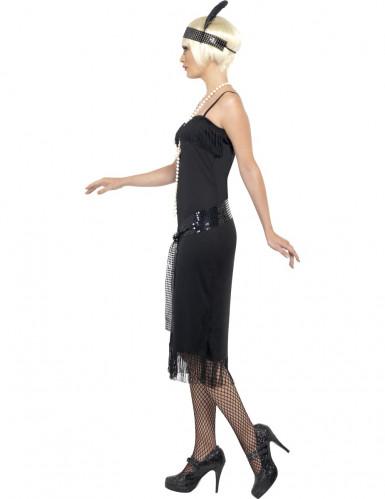 Stilvolles Charleston-Kostüm für Damen schwarz-2
