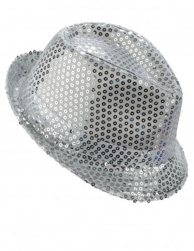 Hut mit silbernen Pailletten