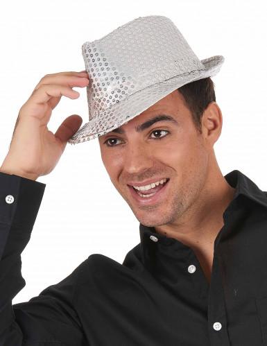Hut mit silbernen Pailletten-1