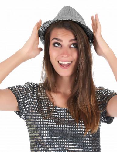 Hut mit silbernen Pailletten-2