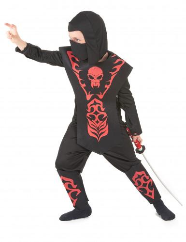 Ninja Kinderkostüm rot -1