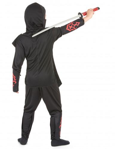 Ninja Kinderkostüm rot -2