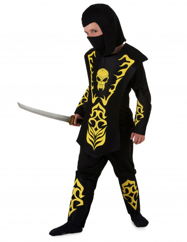 Ninja Kinderkostüm gelb-1