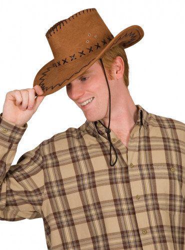 Cowboy-Hut für Erwachsene Kostümzubehör braun