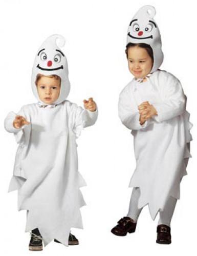 Halloween-Gespenster-Kinderkostüm weiss-schwarz-rot