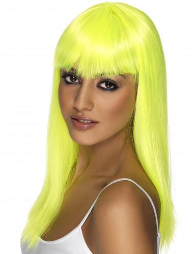 Glamouröse gelbe Perücke für Damen