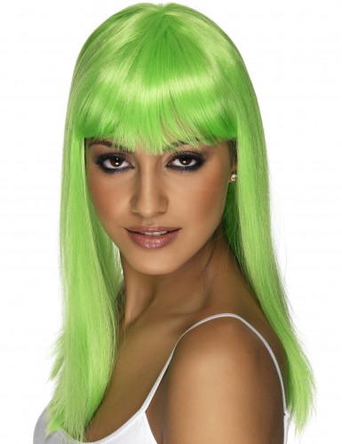 Glamouröse grüne Perücke für Damen